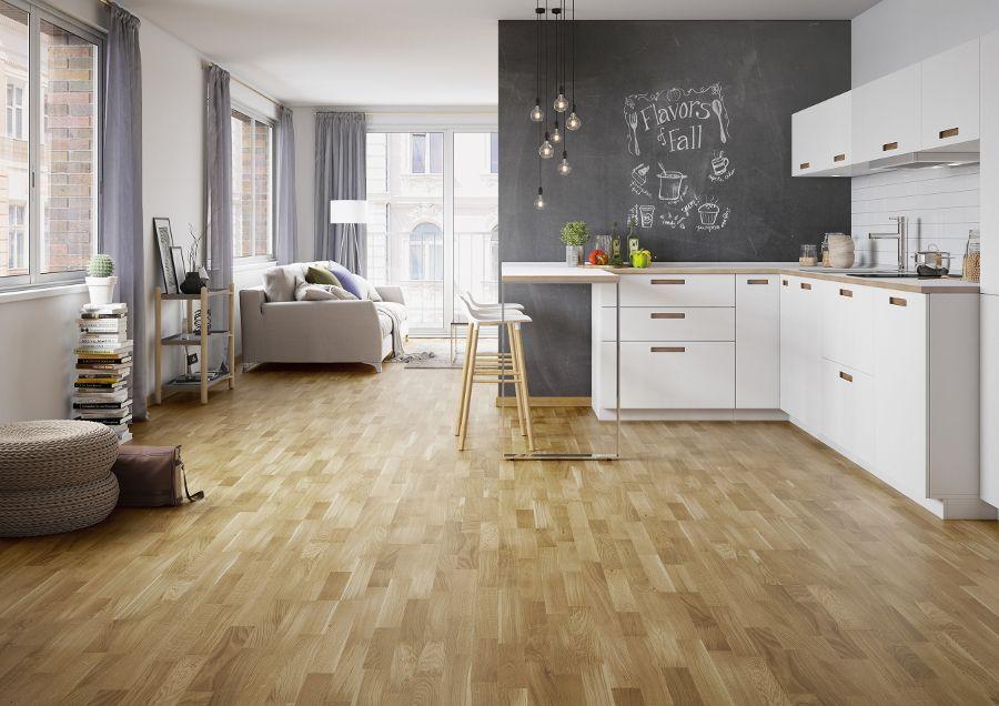 Drewniana Podłoga W Kuchni Barlinek